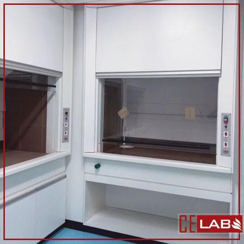 Capela de exaustão de gases laboratorio