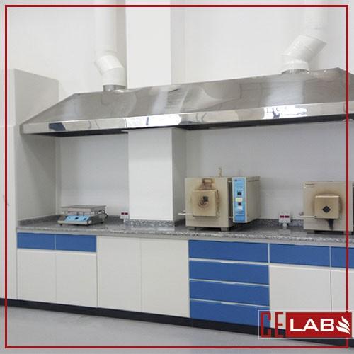 Coifa em inox para laboratório